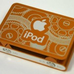 orange engraved iPod shuffle 4