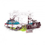 Ecto-1 vs. The DeLorean - shirt